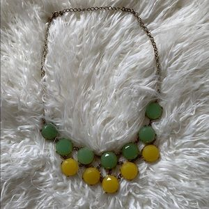 Jcrew lime & lemon color statement necklace